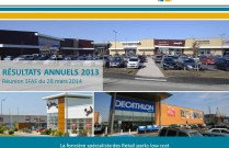 Présentation des résultats annuels au 31/12/2013