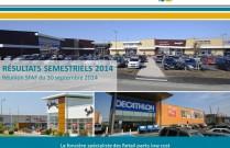Présentation des résultats semestriels au 30 juin 2014